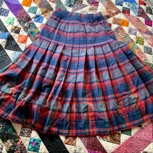 Pendleton Virgin Wool Plaid Skirt